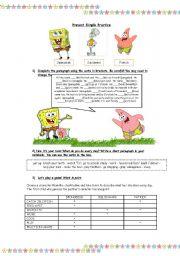 Spongebob - Simple present
