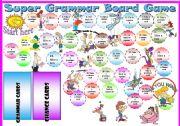 English Worksheets: sssSUPERrrrrr GRAMMAR BOARD GAME!!! 5 pages (tasks, rules and everything) =)