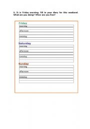 English Worksheets: writing about plans