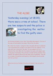 English Worksheet: the alibi