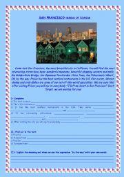 English Worksheet: San Francisco - bureau of tourism