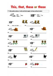 This That These Those Esl Worksheet By Teacherjorgesanchez