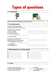 English Worksheets: Types of questions