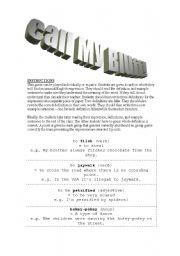 English Worksheets: Call My Bluff!