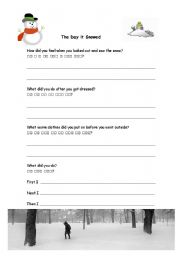 English Worksheets: The Day it Snowed