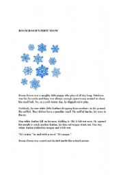 English Worksheets: Boom Boom�s First Snow