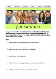 English Worksheet: Friends - Series 2 Episode 6 - Baby on the bus