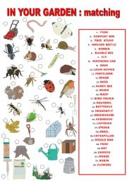 English teaching worksheets the garden for Gardening tools list pdf