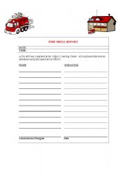 English Worksheets: fire drills