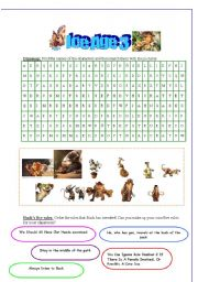 Ice Age 3 Worksheet 3 pages