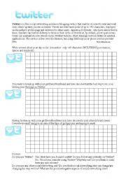 English Worksheets: Twittergrams