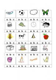 English Worksheet: alphabet Beginning Sounds