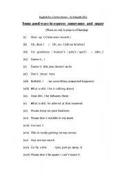 English worksheet: Expressing annoyance and anger...!
