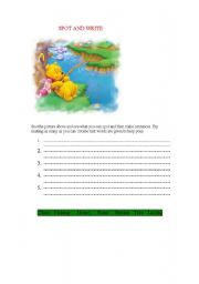 English Worksheets: Spot and Write