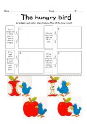 English Worksheet: The hungry bird