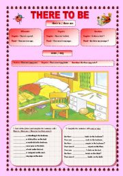 English Worksheets: There to be, prepositions of place, some/any and question tags-2 pages.18,08,2009