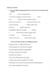 English Worksheet: Abstract nouns exercise