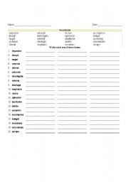 Worksheet 11th Grade Worksheets english teaching worksheets 11th grade spelling list