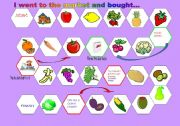 English Worksheet: I went to the market and bought