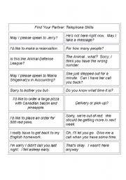 English Worksheets: telephone