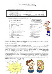English Worksheet: GENITIVE CASE