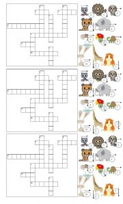 English Worksheets: animal cross