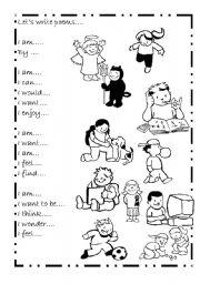 English Worksheet: Poem - I am