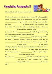 English Worksheets: Writing Paragraphs5