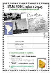 English Worksheets: natural wonders