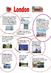 English Worksheets: London for  young learners