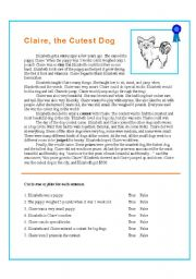 English Worksheets: The Cutest Dog