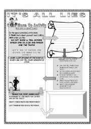English Worksheets: It�s All Lies!