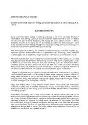 English Worksheet: FCE READING MULTIPLE CHOICE