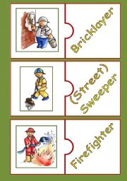 English Worksheets: MATCHING GAME: OCCUPATIONS 1/2 (FULLY EDITABLE)