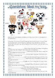 English Worksheets: Superlatives: Meet my dogs