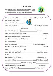 If clauses worksheets for esl students