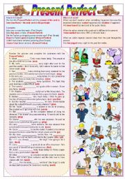 English Worksheets: Present Perfect - Grammar Guide + Exercises (fully editable)