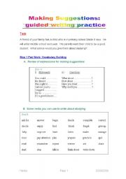 Printables Study Skills Worksheets For Middle School making suggestions guided writing practice