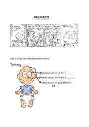 English Worksheet: Tommy�s parts of the body