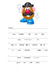 English Worksheet: This is Mr Potato Head