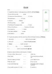 English worksheet: EXAM