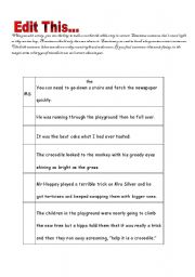 English worksheets: Editing Sentences