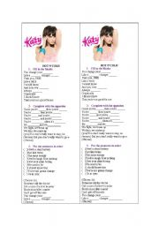 English Worksheet: Hot n�Cold by Katy Perry