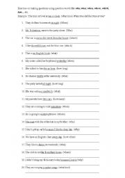 English Worksheets: Wh-Words