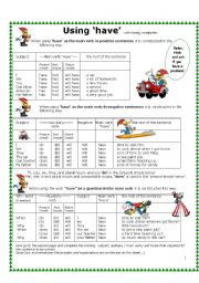 English Worksheets: Using �have� with Woody Woodpecker