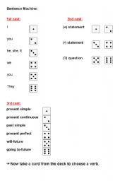English Worksheet: Syntax Machine