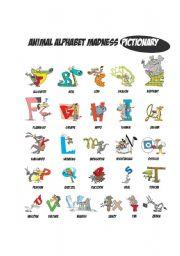 Animal Alphabet Pictionary
