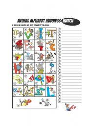 Animal Alphabet Matching
