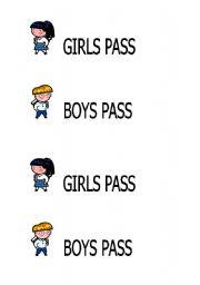 English Worksheets: Pass