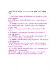 English Worksheets: creating confidence